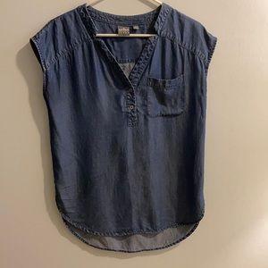 New York & Company XS denim tunic top